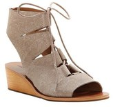 Lucky Brand Women's Gizi Ghillie Wedge.