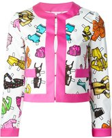 Moschino doll accessories print jacket - women - Cotton/Spandex/Elastane/Rayon/Other fibres - 42