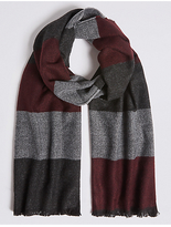 M&S Collection Colour Block Wider Width Woven Scarf