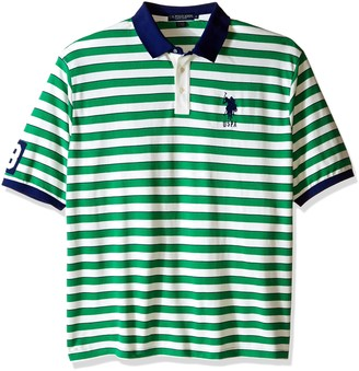 U.S. Polo Assn. Men's Big-Tall Slim Fit Shadow Stripe Polo Shirt