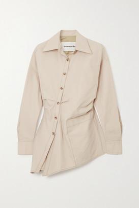 ANDERSSON BELL Ryley Asymmetric Cotton-blend Shirt - Sand