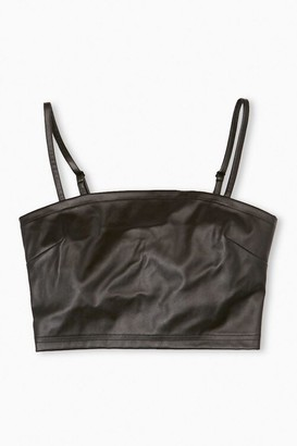 Forever 21 Faux Leather Cropped Cami
