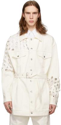 Maison Margiela White Cotton Bull Coat
