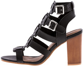 Qupid Caged Black Heel