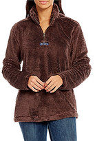 Lauren James Linden Faux-Sherpa Partial-Zip Fleece Pullover
