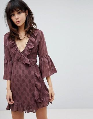 Religion Wrap Front Dress