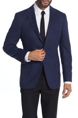 Hickey Freeman Milburn II Blue Notch Collar Dual Button Blazer