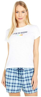 Life is Good LIG In All Colors Textured Slub Tee (Cloud White) Women's T Shirt