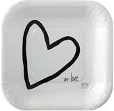 Peace Love World I am Love® White Paper Dessert Plates