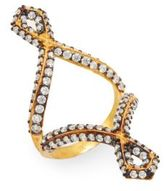 Azaara Two-Tone Pavé Cutout Ring