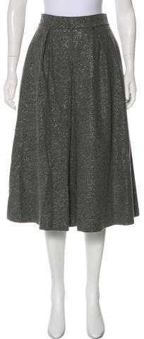 Metallic Virgin Wool Skirt