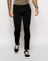 Asos Super Skinny Smart Trousers In Jersey