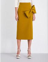 Roksanda Maida bow-detail crepe skirt