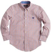 Chaps Toddler Boy Long Sleeve Tattersal Pattered Shirt