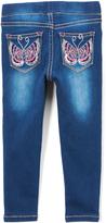 Vigoss Blue Dainty Butterfly Jeans - Toddler