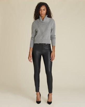Veronica Beard Debbie High-Rise Skinny Vegan Leather Jean
