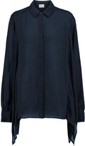 DKNY Draped voile shirt