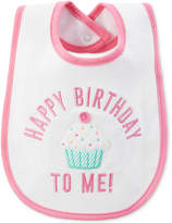 Carter's Happy Birthday Cupcake Bib, Baby Girls