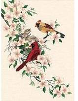 Dimensions Cardinals in Dogwood Crewel Kit