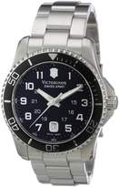 Victorinox Men's 241436 Maverick Stainless Steel Black Dial Watch
