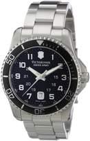 Victorinox Men's 241436 Maverick Stainless Steel Black Dial Watch