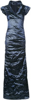 Nicole Miller ruched maxi dress