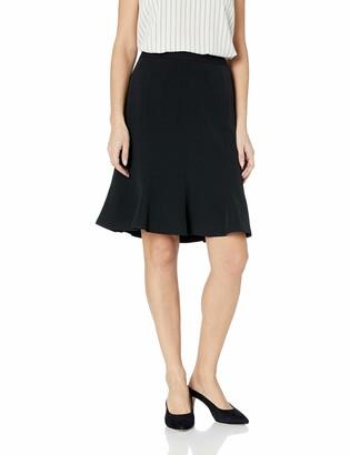Kasper Women's Pleated Stretch Crepe Flare Skirt