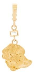 Azlee - Aurum Diamond And 18kt Gold Nugget Charm - Gold