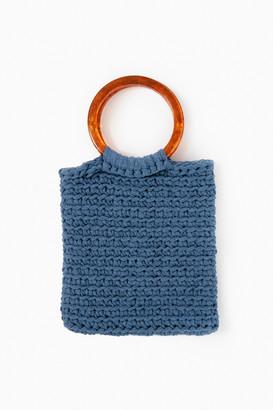 Binge Knitting Sand and Marble Cabana Tote