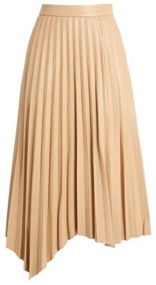 Jonathan Simkhai Jayla Faux Leather Pleated Skirt