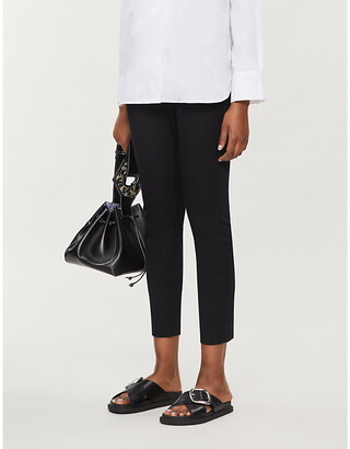 Ted Baker Cemelia cropped skinny high-rise ponte-knit trousers
