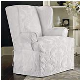 Sure Fit Matelasse Damask T-Cushion Wingback Slipcover