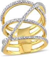Julie Leah 1/5 CT TW Diamond Gold-Plated Sterling Silver Fashion Ring