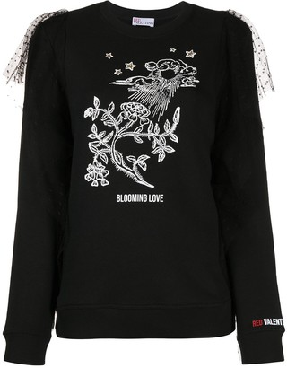 RED Valentino Printed Detail Jumper