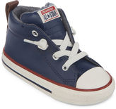 Converse Chuck Taylor All Star Street Leather And Fleece Mid Boys Sneakers