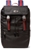 Gucci Webbing-trimmed Nylon-canvas Backpack
