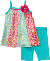 Youngland Young Land Sleeveless Chiffon Dress and Bike Shorts Set - Preschool Girls 4-6x
