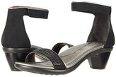 Naot Footwear Progress (Black Velvet Nubuck/Mirror Leather/Metal Rivets) Women's Shoes