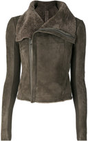 Rick Owens classic biker jacket - women - Polyester/Cupro/Cashmere/Ram Leather - 38