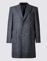 Marks and Spencer Pure Wool Peak Collar Overcoat