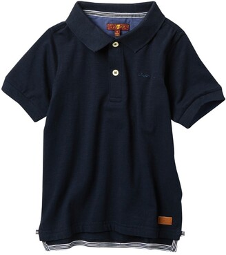 7 For All Mankind Short Sleeve Slouchy Polo