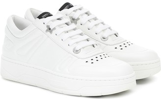 Jimmy Choo Hawaii/F leather sneakers