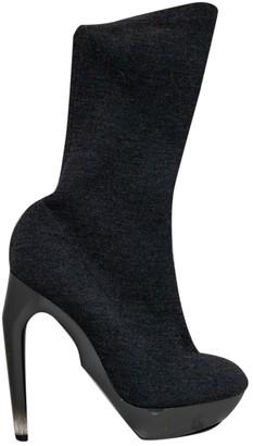 Jil Sander Grey Tweed Boots