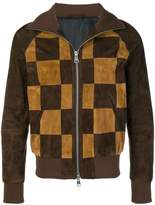 Ami Alexandre Mattiussi Suede Leather Patchwork Jacket With Welt Pockets