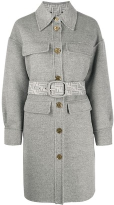 Fendi FF-motif single-breasted coat