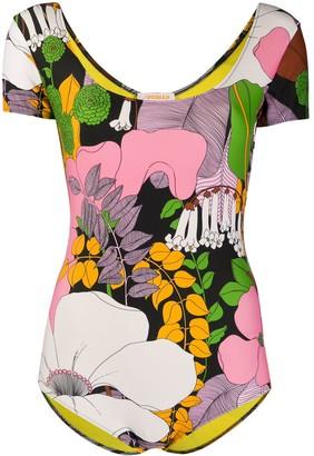 La DoubleJ Floral Print Swimsuit