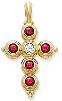 James Avery Jewelry James Avery Antiquity 14K Gold Cross Pendant with Rubies & Diamond