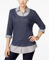 Style&Co. Style & Co. Layered-Look Top, Only at Macy's