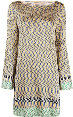 Missoni Illusion-Patttern Knitted Dress