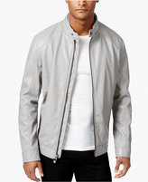 Calvin Klein Men's Faux-Leather Moto Jacket